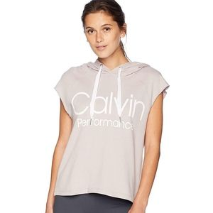 Calvin Klein Muscle Boxy Cropped Sleeveles Hoodie